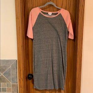 Grey/pink T-Shirt Dress